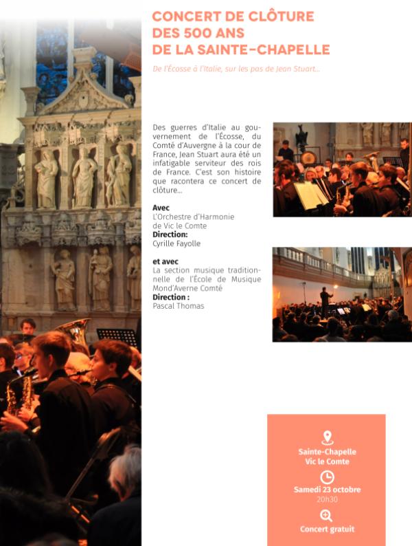 [500 ans de la Sainte Chapelle] - Concert de clôture @ Sainte Chapelle - Vic le Comte